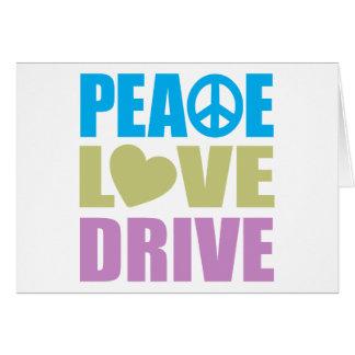 Impulsión del amor de la paz tarjeta de felicitación