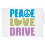 Impulsión del amor de la paz tarjetas