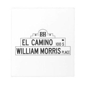 Impulsión del EL Camino, Los Ángeles, placa de Libreta Para Notas