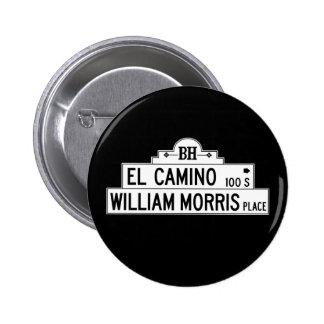 Impulsión del EL Camino, Los Ángeles, placa de Pin Redondo De 2 Pulgadas