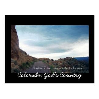 Impulsión del horizonte, ciudad de Canon, Colorado Postal