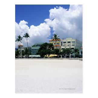 Impulsión del océano, playa del sur de Miam, Miami Tarjeta Postal
