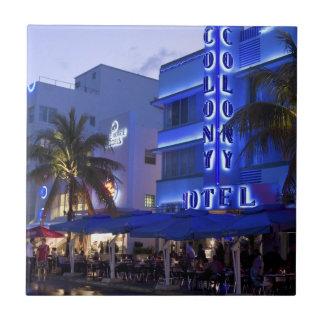 Impulsión del océano, playa del sur, Miami Beach 2 Azulejo Cuadrado Pequeño