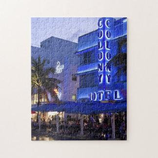 Impulsión del océano, playa del sur, Miami Beach 2 Puzzles Con Fotos