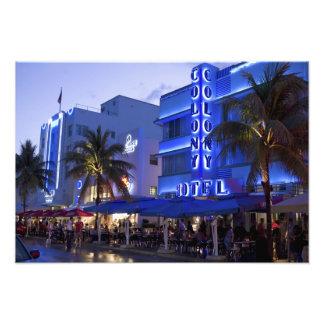 Impulsión del océano, playa del sur, Miami Beach,  Fotografía