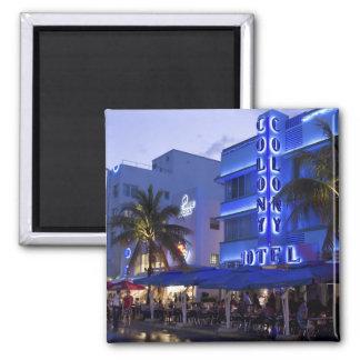 Impulsión del océano, playa del sur, Miami Beach,  Imán Cuadrado