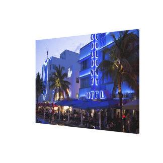 Impulsión del océano, playa del sur, Miami Beach, Lona Estirada Galerías