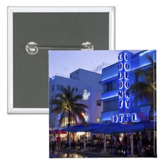 Impulsión del océano, playa del sur, Miami Beach,  Pin Cuadrado