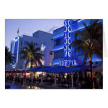 Impulsión del océano, playa del sur, Miami Beach,  Tarjetas