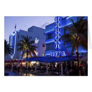 Impulsión del océano, playa del sur, Miami Beach,  Tarjeta De Felicitación