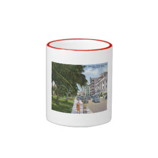 Impulsión del océano, vintage de Miami Beach Taza De Dos Colores