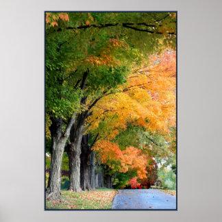 Impulsión del otoño poster