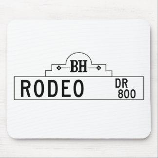Impulsión del rodeo, Los Ángeles, placa de calle Alfombrillas De Ratones