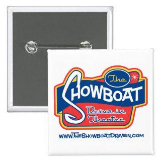 Impulsión del Showboat en botón Pin Cuadrado