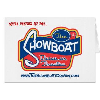 Impulsión del Showboat en tarjeta de felicitación