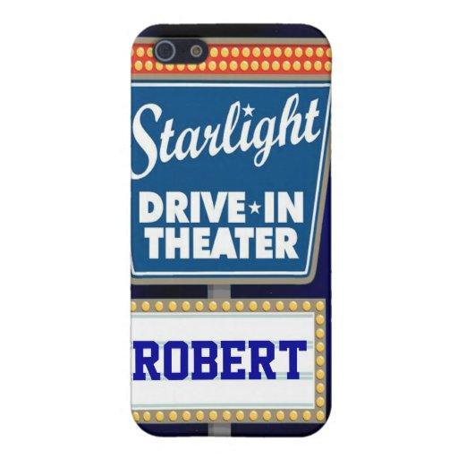 Impulsión nocturna de las estrellas en teatro iPhone 5 carcasa