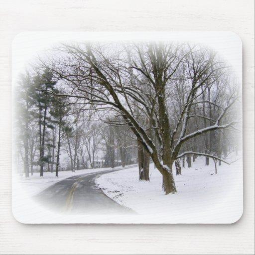 Impulsión pacífica de la tarde del invierno tapetes de raton