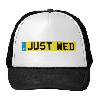 Impulsión real del boda gorras