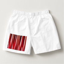 Impulsive Adventure Red Striped Abstract Pattern Boxers