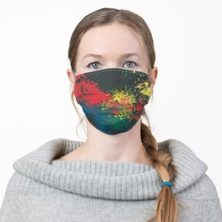 Impulsive Color Splash Toddler Art Cloth Face Mask