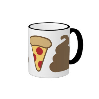 Impulso de la pizza taza a dos colores