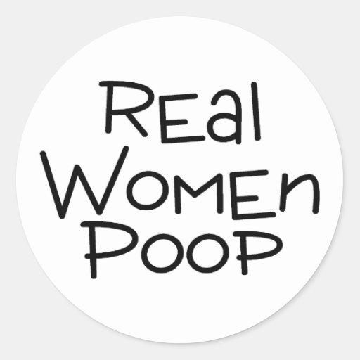Impulso de las mujeres reales pegatina redonda