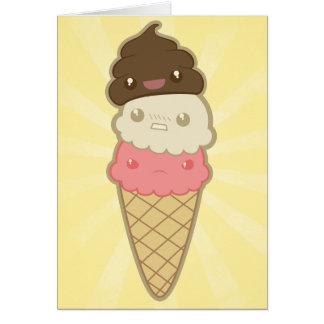 Impulso de motivación en el helado tarjeton