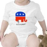 Impulso del elefante de la fiesta del té en taza trajes de bebé