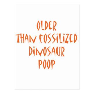 Impulso fosilizado del dinosaurio postales