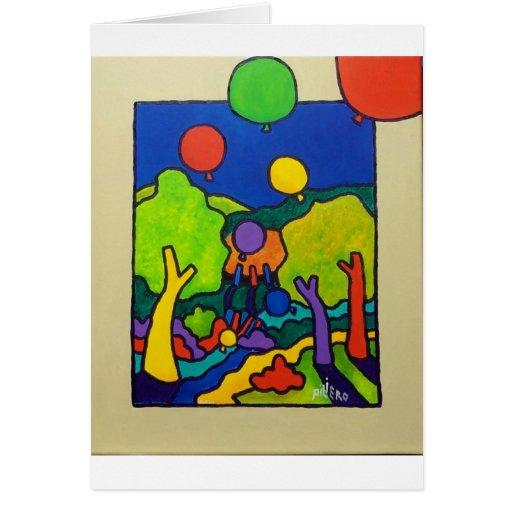 Impulsos de la primavera tarjeta de felicitación