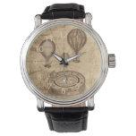 Impulsos del aire caliente del steampunk del relojes de pulsera