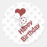 Impulsos del cumpleaños pegatina redonda