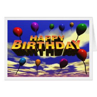 Impulsos del feliz cumpleaños felicitacion
