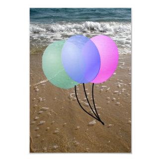 impulsos en la playa no2 invitación 8,9 x 12,7 cm