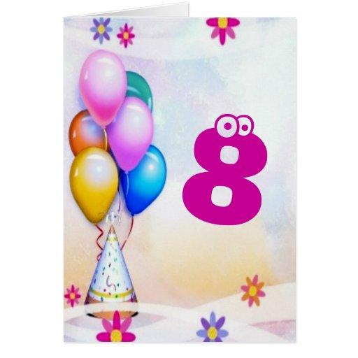 Impulsos festivos - cumpleaños de los niños tarjeta de felicitación