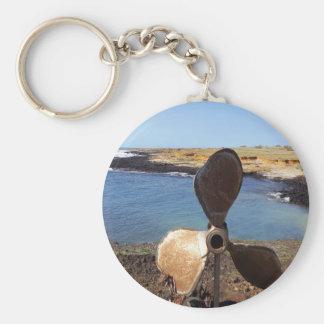 imrpession, beach basic round button keychain
