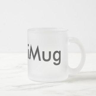 iMug 10 Oz Frosted Glass Coffee Mug