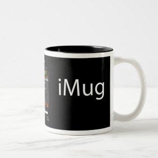 iMug AllBlack Two-Tone Coffee Mug