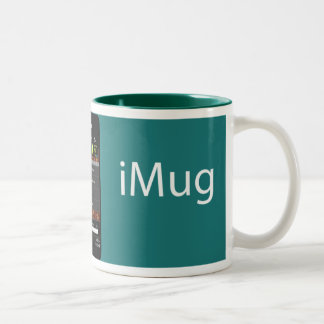 iMug AllGreen Two-Tone Coffee Mug