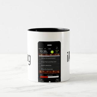 iMug Black Grande Two-Tone Coffee Mug