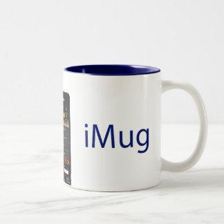 iMug Blue Grande Two-Tone Coffee Mug