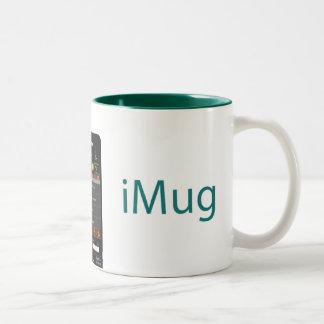 iMug Green Grande Two-Tone Coffee Mug
