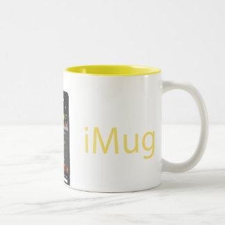 iMug Yellow Grande Two-Tone Coffee Mug