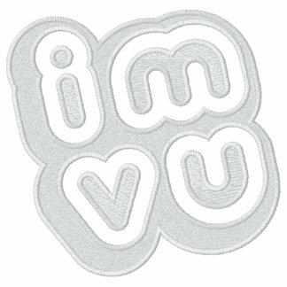 IMVU bordó sudadera con capucha de la cremallera
