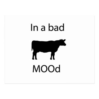 In a bad mood postcard