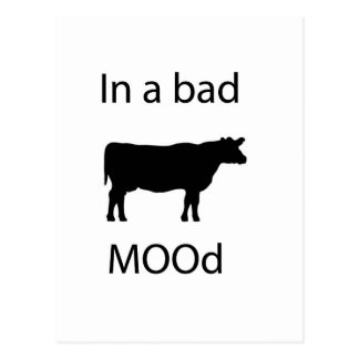 In a bad mood post cards