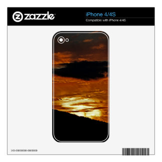 In A Blaze of Cloud Phone Skin iPhone 4 Skins