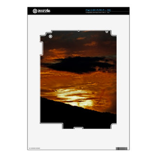 In A Blaze of Cloud Tablet Skin iPad 2 Decals
