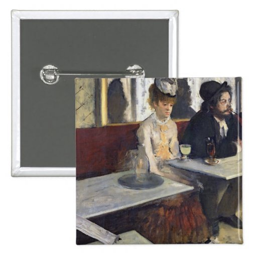 In a Cafe, or The Absinthe, c.1875-76 Pinback Buttons
