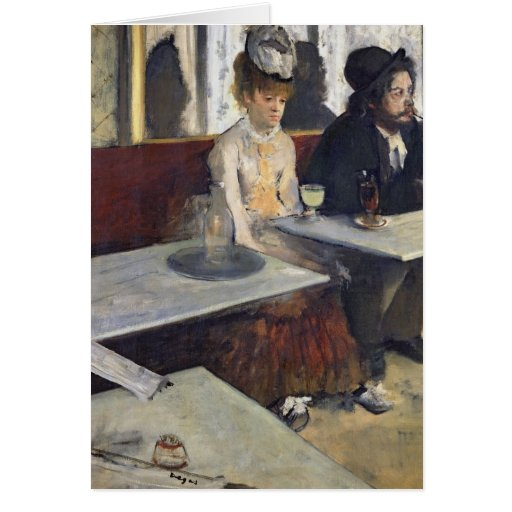 In a Cafe, or The Absinthe, c.1875-76 Card